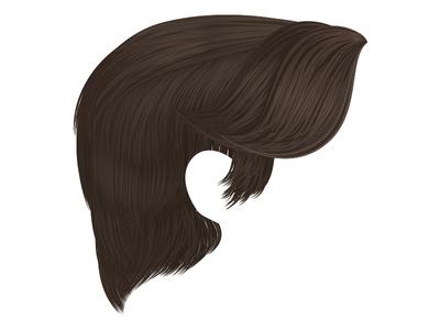 Han Solo Illustration - Hair