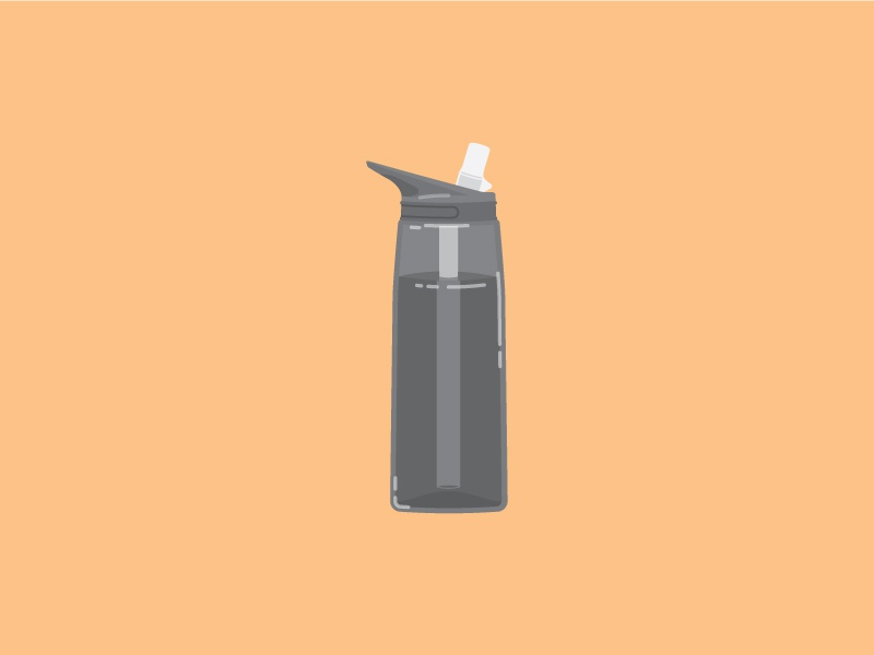 Water Bottle water bottle flat illustration
