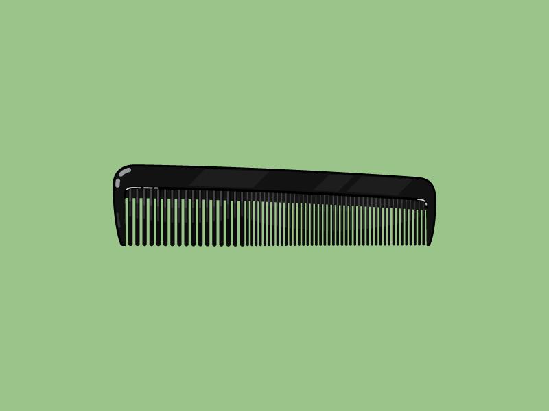Comb flat comb illustration