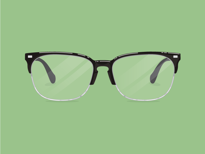 Glasses vision flat illustration glasses