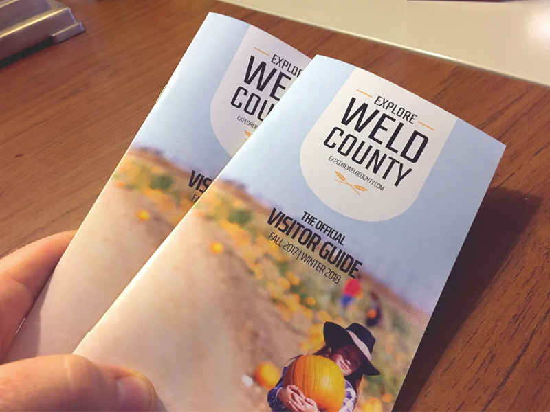 Explore Weld County - Brochure guide visitors weld county print collateral brand pamphlet