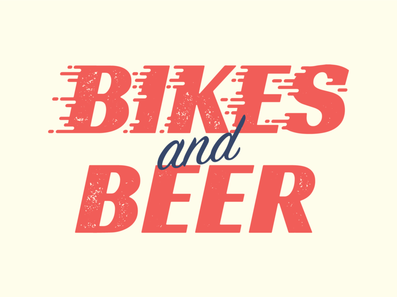 Bikes and Beer Type motion script beer bikes custom lettering type