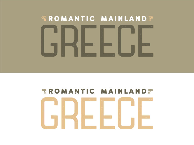Romantic Mainland Greece pillars greece custom lettering lettering