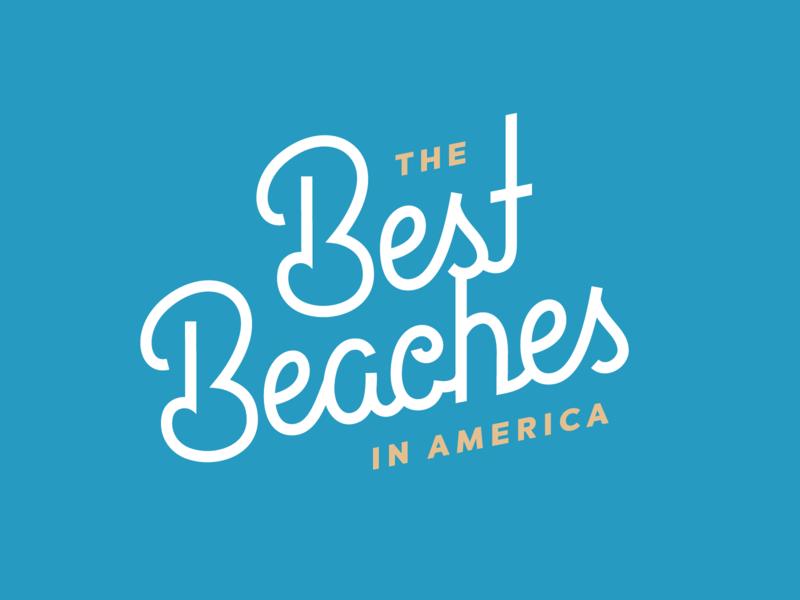 Best Beaches b font script mono-weight monoline lettering best sand blue beach