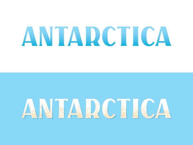 Antarctica antarctica custom lettering lettering