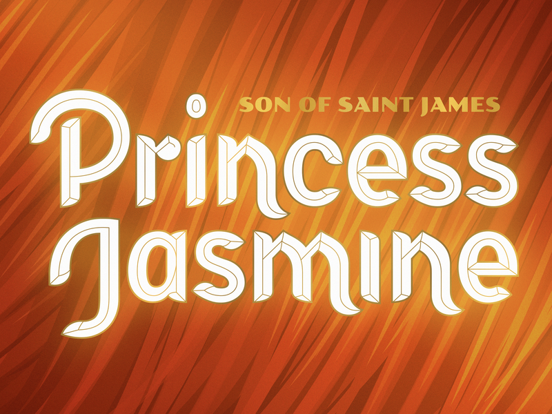 Princess Jasmine - More Progress music album artwork band lettering type jasmine princess