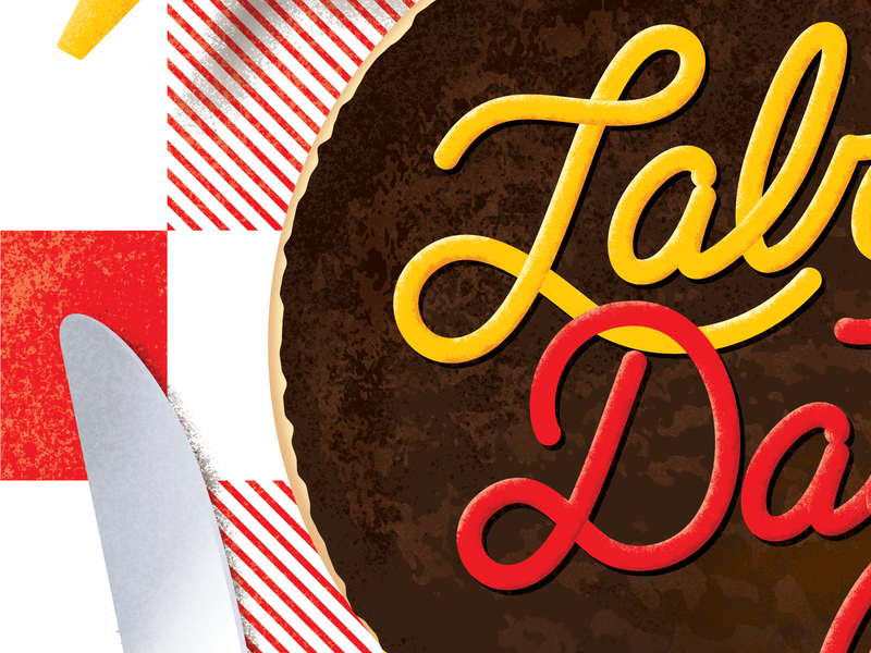 Labor Day Type/Illustrations barbecue bbq picknick ketchup mustard hamburger burger illustration labor day