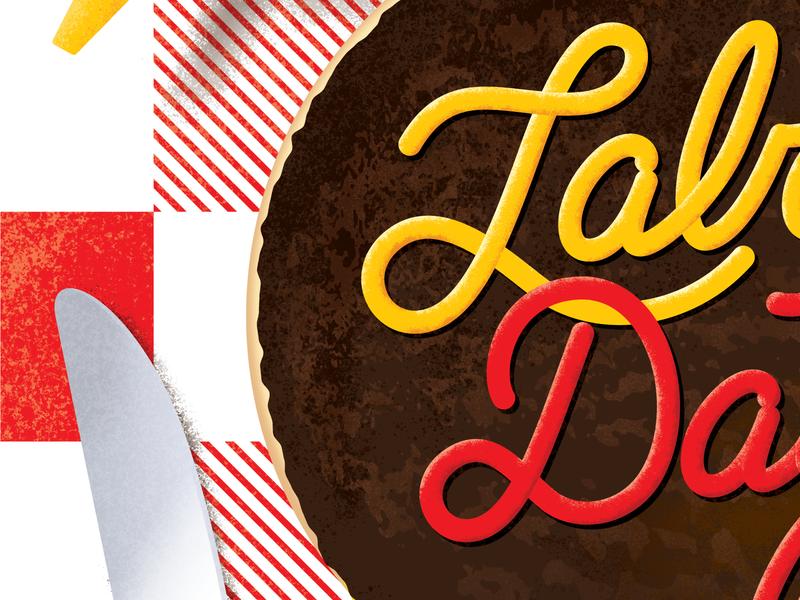 Labor Day Type/Illustrations barbecue bbq picknick ketchup mustard hamburger burger illustration labor day