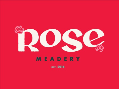 Rose Meadery - Brand Exploration wine logo type logo packaging beer mead rose