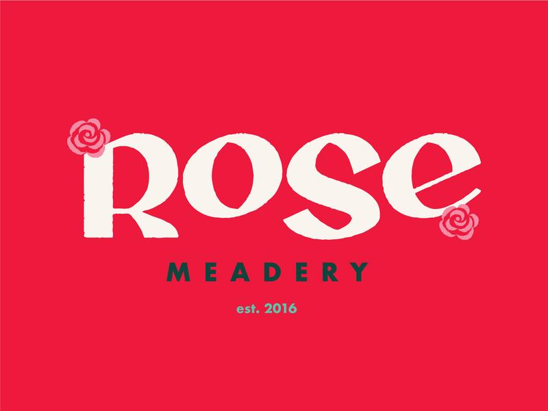 Rose Meadery - Brand Exploration wine logo type logo packaging beer mead rose