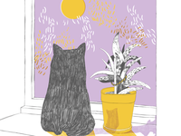 Risograph-cat