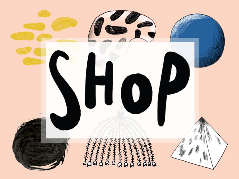 Shop webshop shop illustration lettering hand