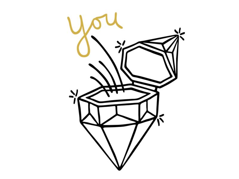 You diamond illustration