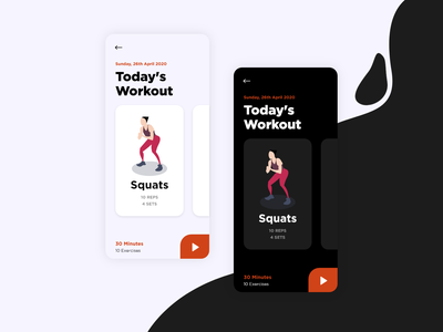 Work Out of the Day workout app fitness dailyui workout of the day workout illustration vector minimal appdesign app uidesign animation ux ui design