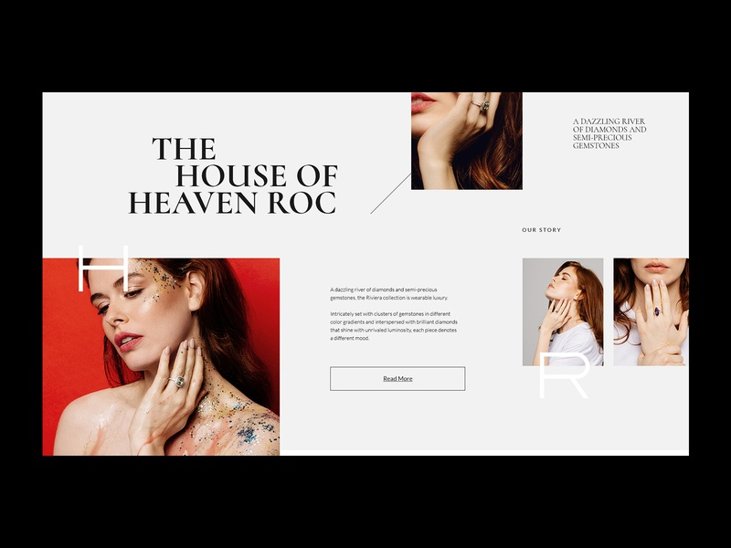 About us - HR shop website jewelery jeweller grid logo uiuxdesign about us online store online shop fashion typography ux ui web