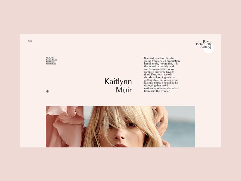 Portfolio - every story promo portfolio agency blog fashion branding logo clean grid typography ux ui web