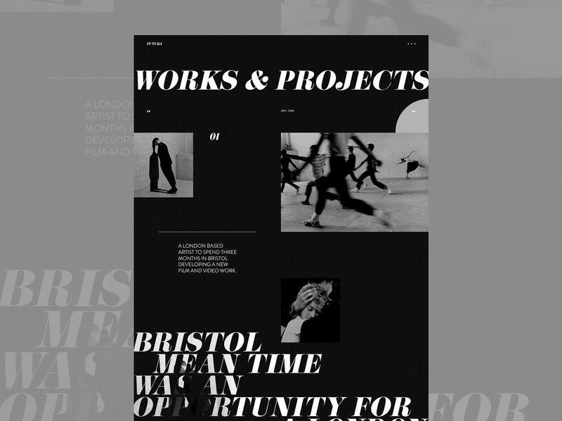 Portfolio agency personal branding personal filmmaker movie portfolio agency website branding clean grid typography ux ui web