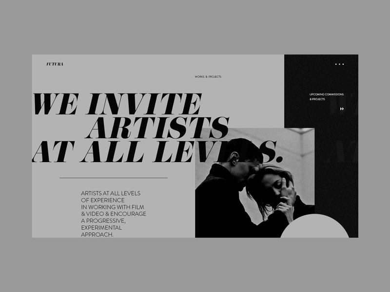 Portfolio Agency logo film filmmaker portfolio portfolio site agency website studio clean grid typography ux ui web