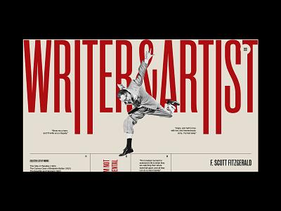 Portfolio personal brand writer artist portfolio blog logo branding clean grid typography ux ui web