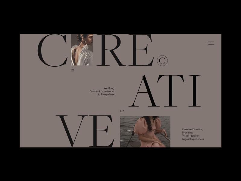 Homepage promo homepage portfolio branding logo fashion clean grid typography ux ui web