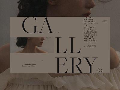 Gallery logo promo portfolio art gallery art gallery branding fashion grid typography ux ui web