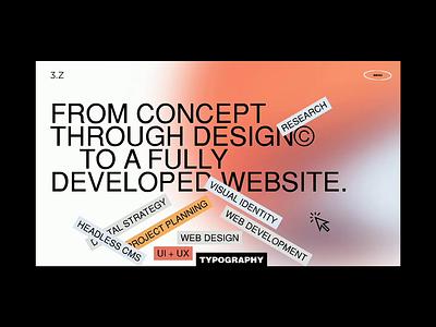 Service page web design digital portfolio services page grid branding animation motion ux ui web typography service