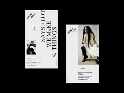 Flyers web design store branding logo fashion grid typography