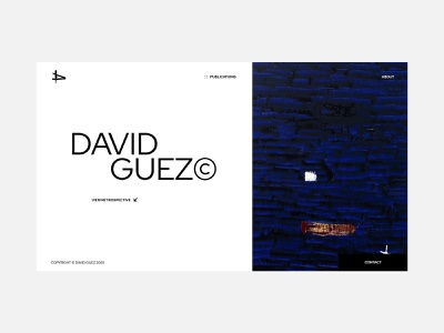 Portfolio site - David Guez portfolio site portfolio artgallery art grid typography ui ux web