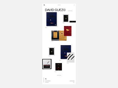 Portfolio site - David Guez clean promo personal website portfolio website artgallery artwork portfolio branding grid typography ux ui web