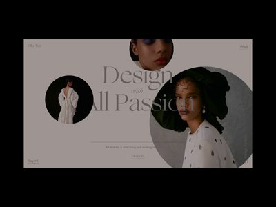 Portfolio - homepage homepage animation webanimation photo blog portfolio branding logo fashion grid typography ux ui web