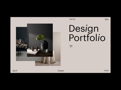 Homepage - portfolio logo product design website homepage webanimation animation portfolio branding grid typography ux ui web