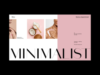Skin care website homepage skincare motion design webanimation animation logo branding fashion typography ux ui web