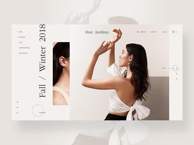 Shop modern fashion typography clean shop design shop e commerce ui ux web