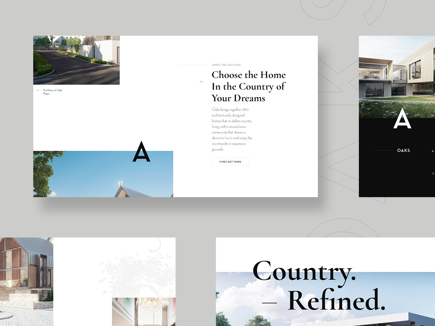 Homepage real estate building real estate agency architecture website architecture design grid clean typography ui ux web