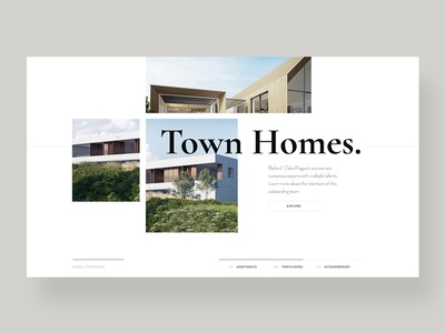 Homes realestate architechture design calligraphy typography ui ux web