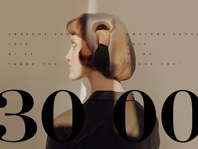 Thanks 3000+ branding design follow news dribbble calligraphy hand drawn font followers typography ui ux web