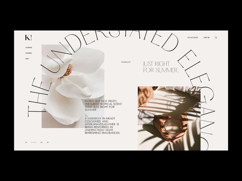 Homepage K! - store ux design ui design uiux website webdesign homepage stylish fashion shop online shop store branding grid clean typography ux ui web