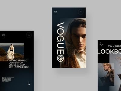 Fashion Editor - magazine branding mobile app design mobile ui lookbook issue magazine fashion logo application app typography ux ui web