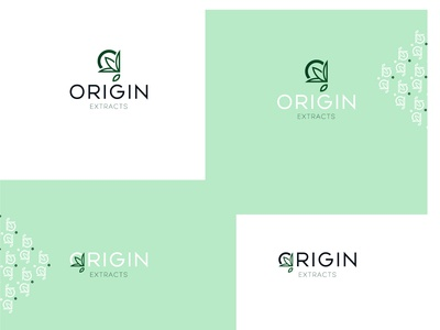 Origin extracts logo concept