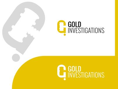 Gold Investigations logo design concept