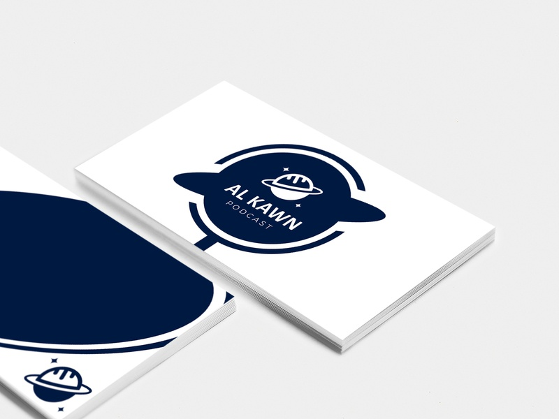 Al Kawn Podcast logo concept business card design business card logo design logo branding design