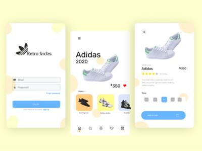Kicks shopping mobile app design