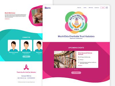 MECTV Home Page Design desktop illustration social website minimal ux ui web design