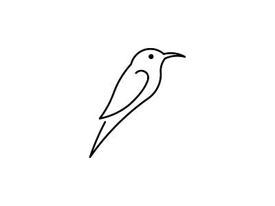 Bird Outline outline bird logo stroke wings symbol logo design icon branding brand logo bird