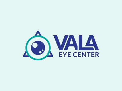 Vala Eye Center Logo Design graphicdesign vector logo design typography brand symbol icon branding design logo