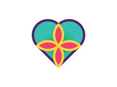 Art In Heart Logo Design minimal brand heart art symbol vector icon branding logo design