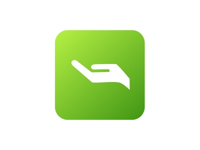 Give Icon hand green icon app charity giving give donation donating
