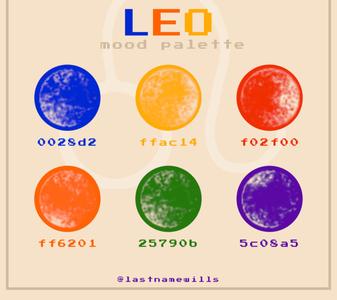 leo mood palette
