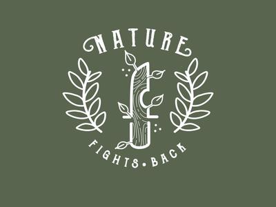 Nature Fights Back branding design gimp illustration