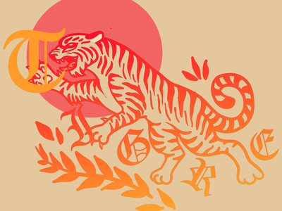 tigre branding lifestyle design illustration